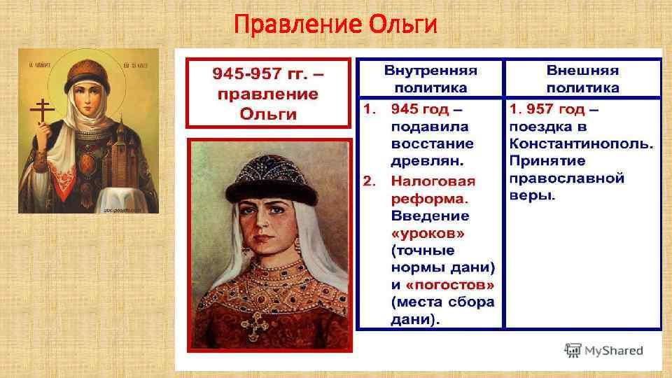 Правление Ольги