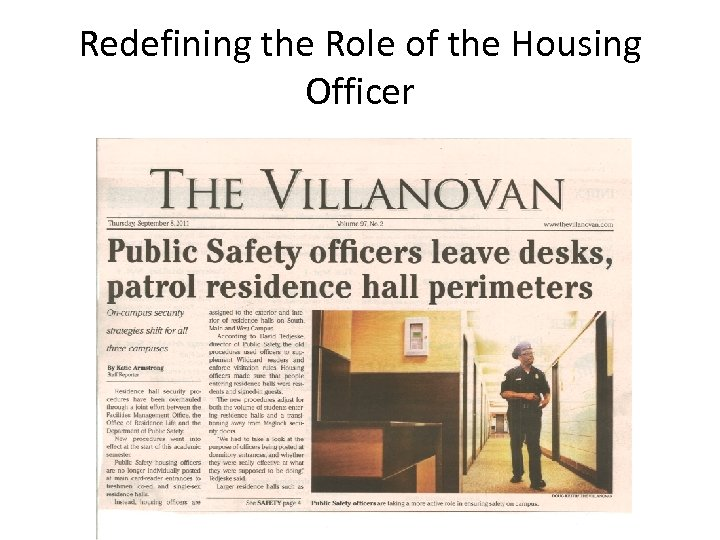 Redefining the Role of the Housing Officer