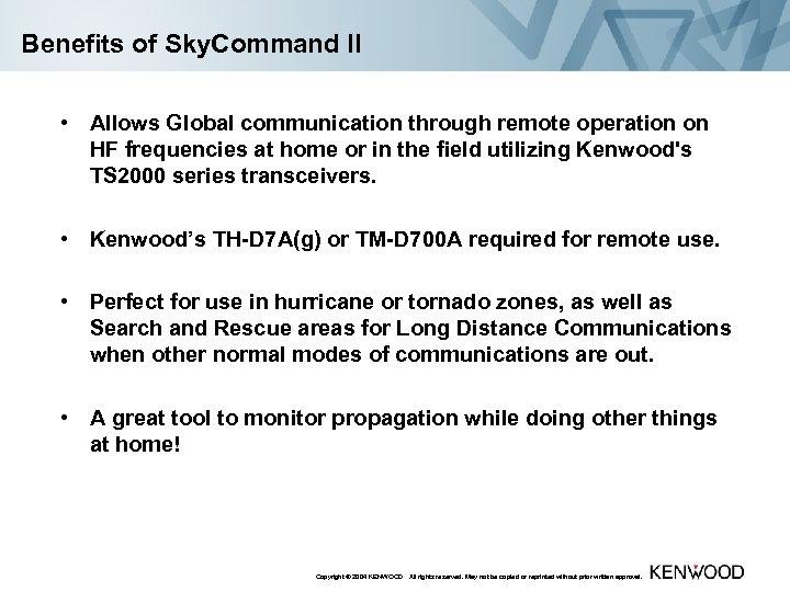 Sky Command System II Setup and Configuration