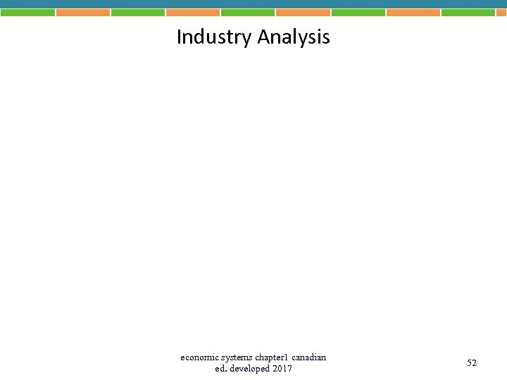 Industry Analysis economic systems chapter 1 canadian ed. developed 2017 52