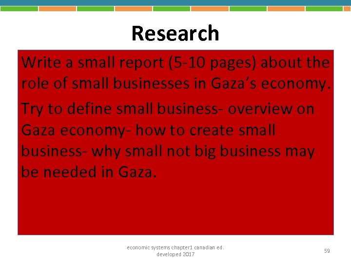 Research Write a small report (5 -10 pages) about the role of small businesses