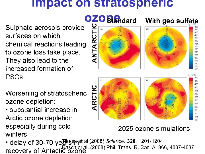 ARCTIC Sulphate aerosols provide surfaces on which chemical reactions leading to ozone loss take