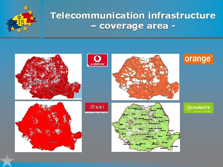 Telecommunication infrastructure – coverage area -
