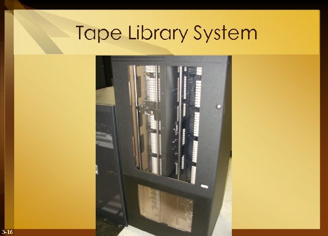 Tape Library System 3 -16