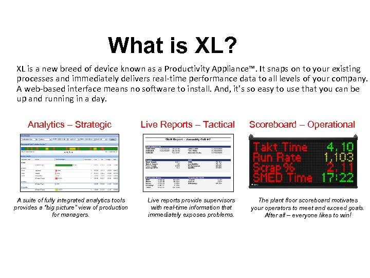 What is XL? XL is a new breed of device known as a Productivity