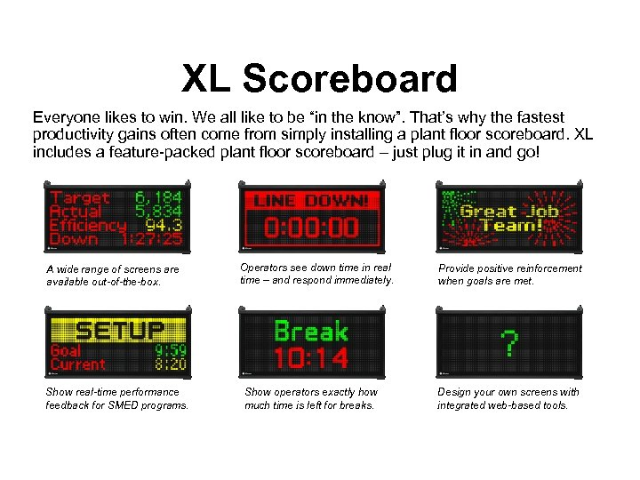"""XL Scoreboard Everyone likes to win. We all like to be """"in the know""""."""