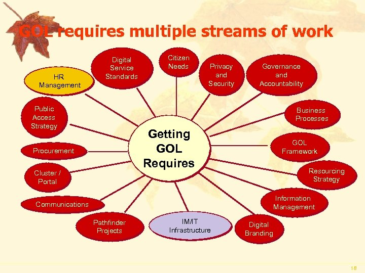 GOL requires multiple streams of work HR Management Digital Service Standards Public Access Strategy