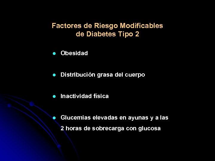 Factores de Riesgo Modificables de Diabetes Tipo 2 l Obesidad l Distribución grasa del