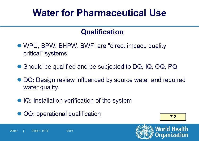 Water for Pharmaceutical Use Qualification l WPU, BPW, BHPW, BWFI are