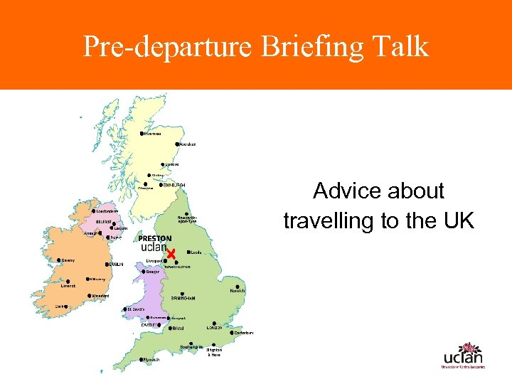 Pre-departure Briefing Talk Advice about travelling to the UK
