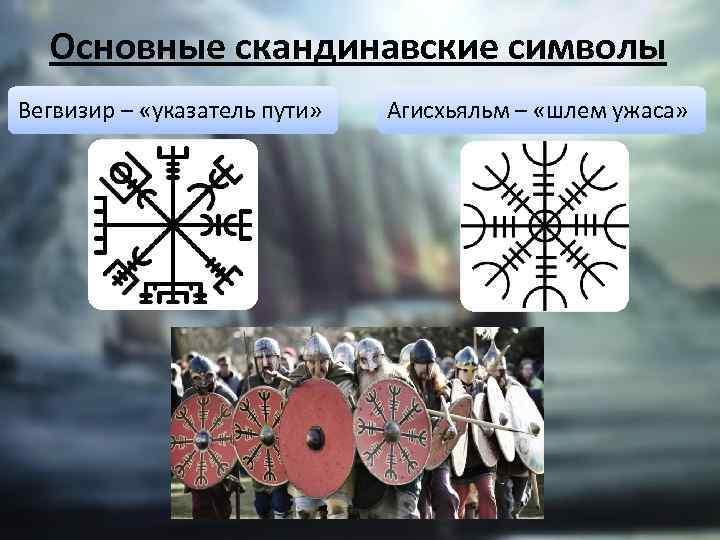 Основные скандинавские символы Вегвизир – «указатель пути» Агисхьяльм – «шлем ужаса»