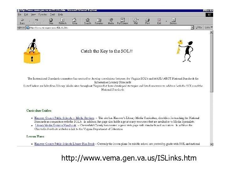 http: //www. vema. gen. va. us/ISLinks. htm
