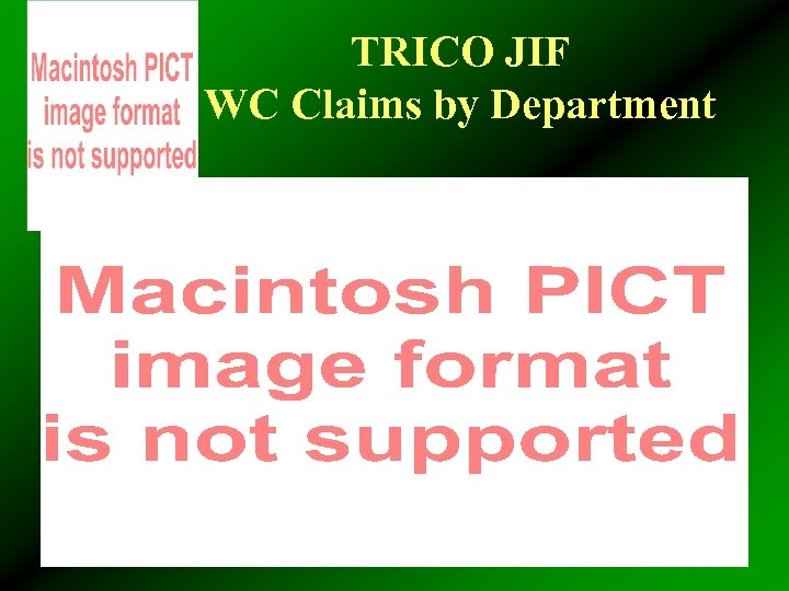 TRICO JIF WC Claims by Department