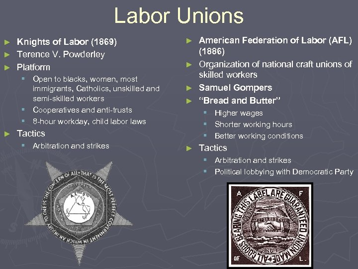 Labor Unions Knights of Labor (1869) ► Terence V. Powderley ► Platform ► §
