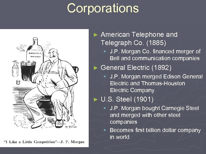 Corporations ► American Telephone and Telegraph Co. (1885) § J. P. Morgan Co. financed