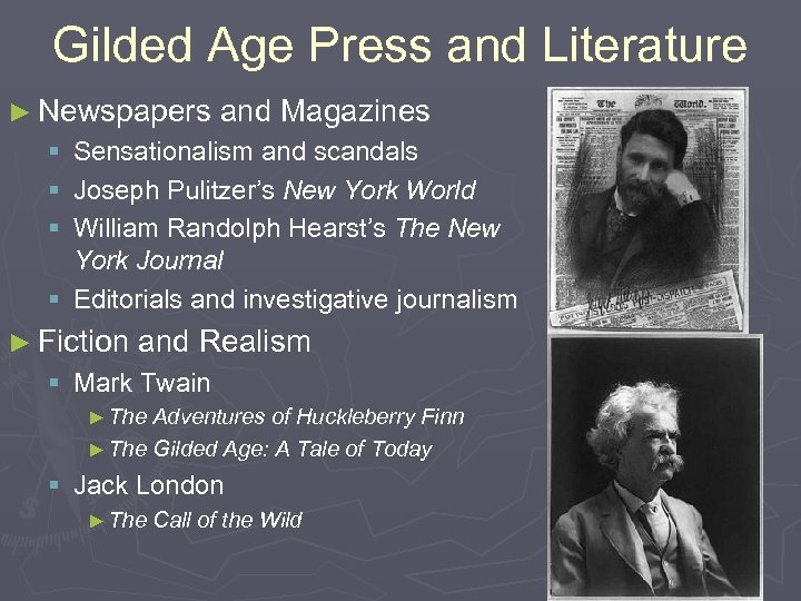 Gilded Age Press and Literature ► Newspapers and Magazines § Sensationalism and scandals §