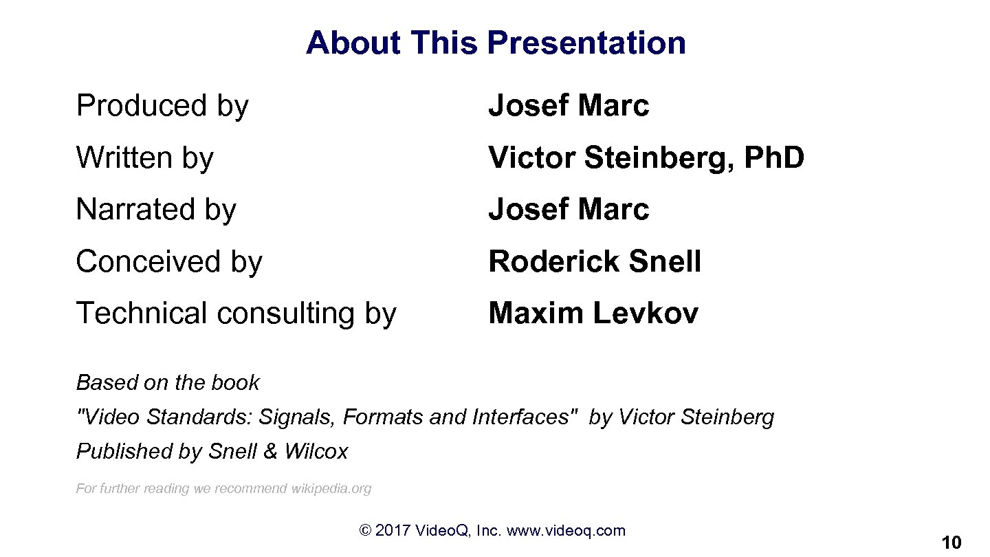 About This Presentation Produced by Josef Marc Written by Victor Steinberg, Ph. D Narrated