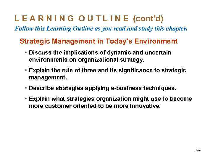 Lecture 7 Topic 4 Planning in the organization