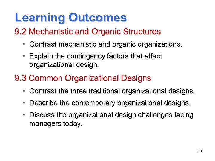 traditional organization vs learning organization