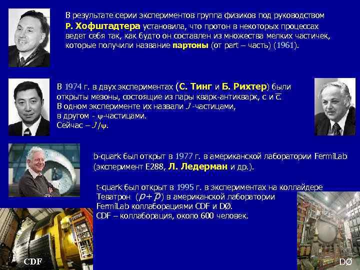 В результате серии экспериментов группа физиков под руководством Р. Хофштадтера установила, что протон в