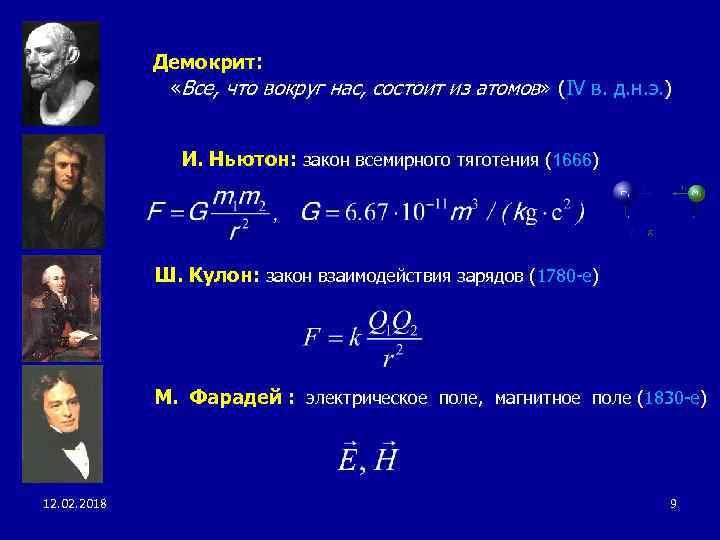 Демокрит: «Все, что вокруг нас, состоит из атомов» (IV в. д. н. э. )