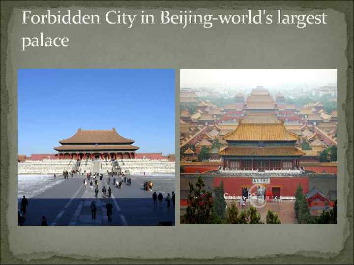 Forbidden City in Beijing-world's largest palace
