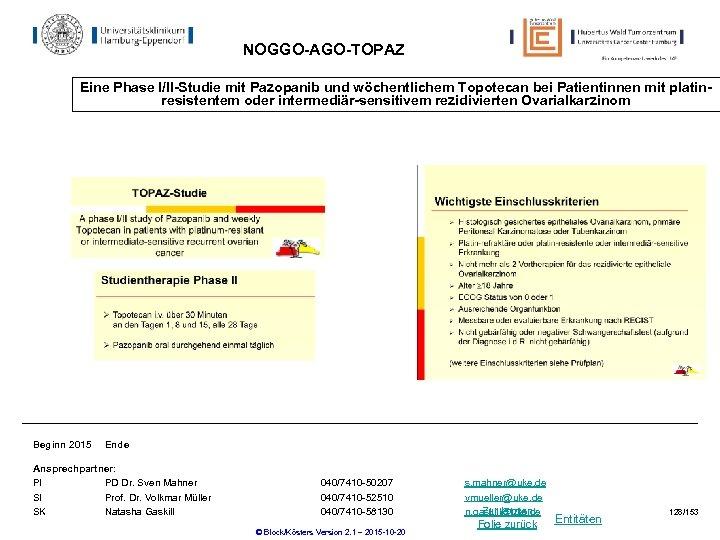 NOGGO-AGO-TOPAZ Eine Phase I/II-Studie mit Pazopanib und wöchentlichem Topotecan bei Patientinnen mit platinresistentem oder