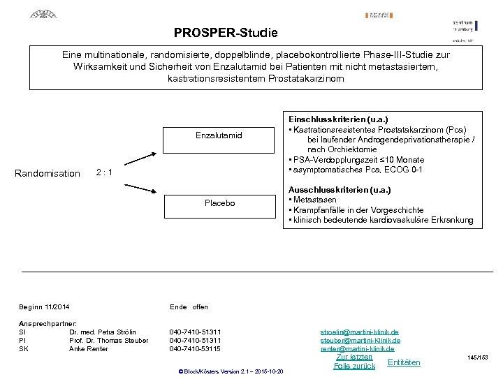 PROSPER-Studie Eine multinationale, randomisierte, doppelblinde, placebokontrollierte Phase-III-Studie zur Wirksamkeit und Sicherheit von Enzalutamid bei