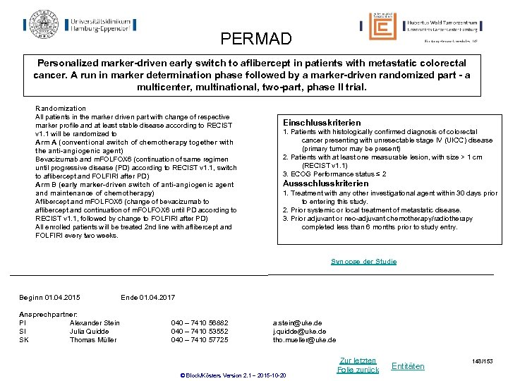 PERMAD Personalized marker-driven early switch to aflibercept in patients with metastatic colorectal cancer. A