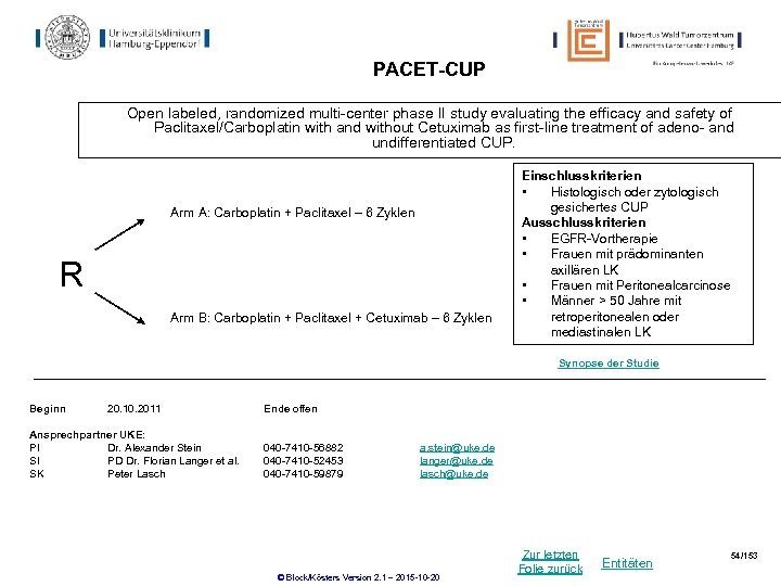 PACET-CUP Open labeled, randomized multi-center phase II study evaluating the efficacy and safety of