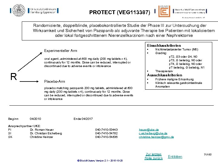 PROTECT (VEG 113387) Randomisierte, doppelblinde, placebokontrollierte Studie der Phase III zur Untersuchung der Wirksamkeit