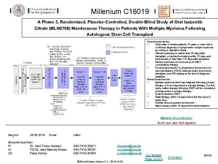 Millenium C 16019 A Phase 3, Randomized, Placebo-Controlled, Double-Blind Study of Oral Ixazomib Citrate