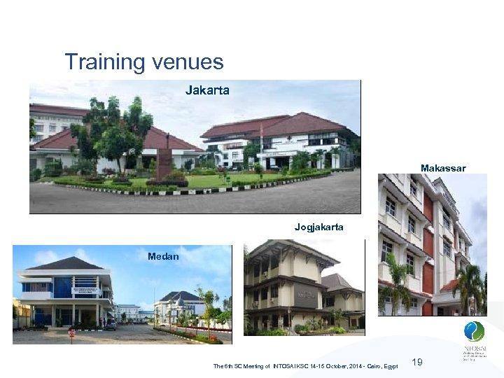Training venues Jakarta Makassar Jogjakarta Medan The 6 th SC Meeting of INTOSAI KSC