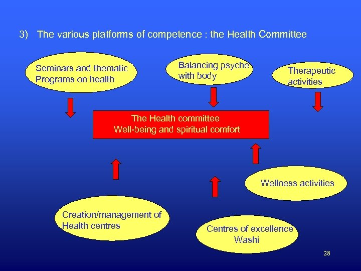 3) The various platforms of competence : the Health Committee Seminars and thematic Programs