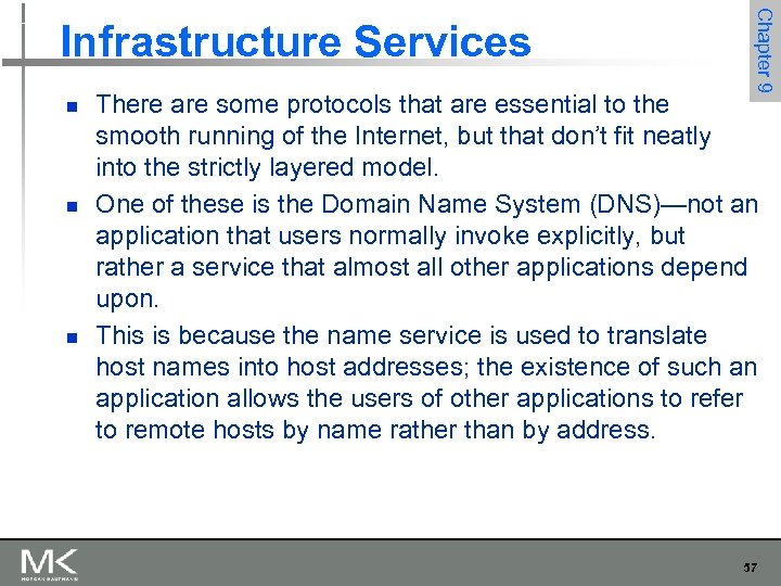 n n n Chapter 9 Infrastructure Services There are some protocols that are essential