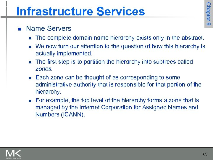 Chapter 9 Infrastructure Services n Name Servers n n n The complete domain name