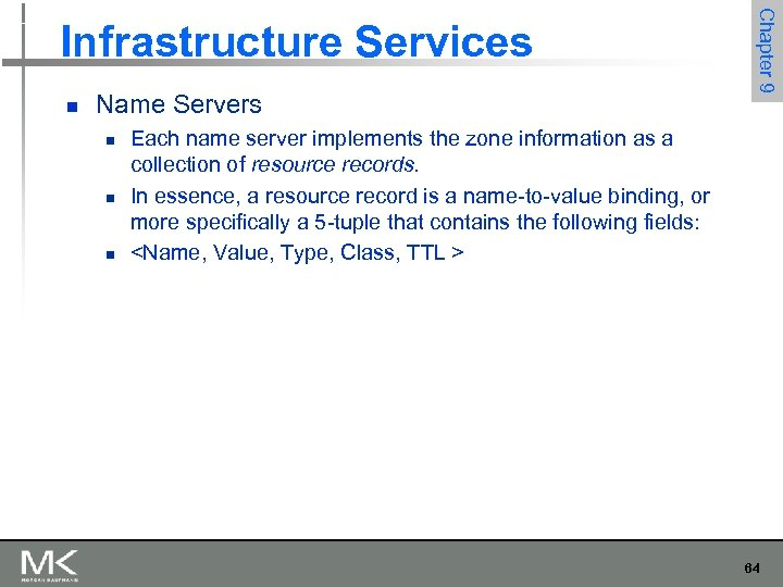 n Name Servers n n n Chapter 9 Infrastructure Services Each name server implements