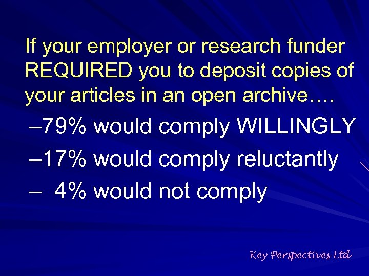 If your employer or research funder REQUIRED you to deposit copies of your articles