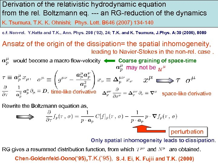 RG derivation of relativistic hydrodynamic equations as the