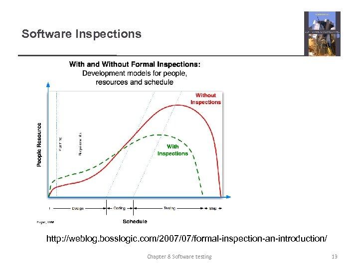 Software Inspections http: //weblog. bosslogic. com/2007/07/formal-inspection-an-introduction/ Chapter 8 Software testing 13