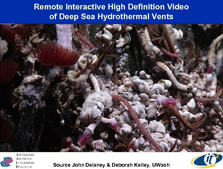 Remote Interactive High Definition Video of Deep Sea Hydrothermal Vents Canadian-U. S. Collaboration Source