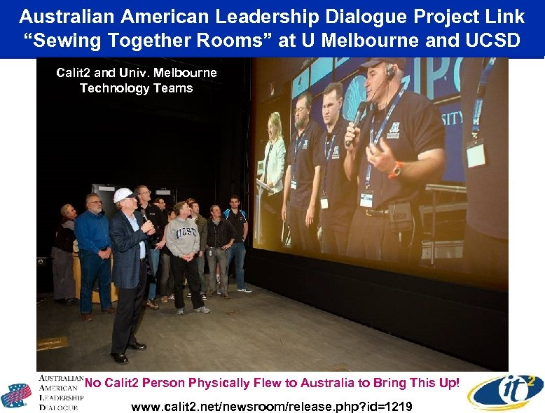 """Australian American Leadership Dialogue Project Link """"Sewing Together Rooms"""" at U Melbourne and UCSD"""