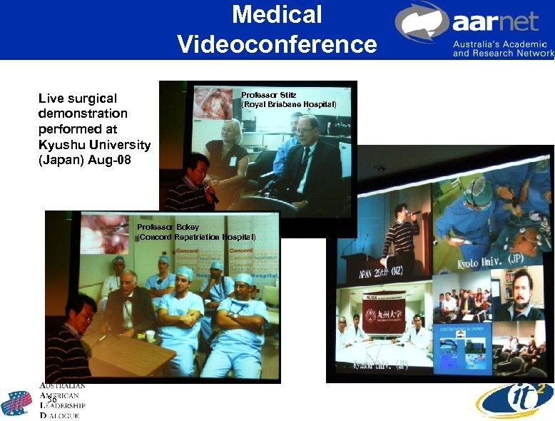 Medical Videoconference Live surgical demonstration performed at Kyushu University (Japan) Aug-08 Professor Stitz (Royal