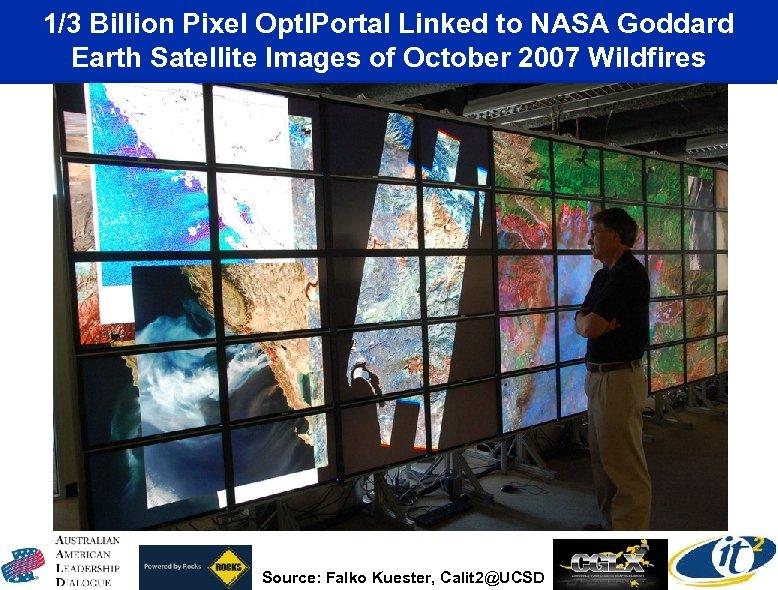 1/3 Billion Pixel Opt. IPortal Linked to NASA Goddard Earth Satellite Images of October