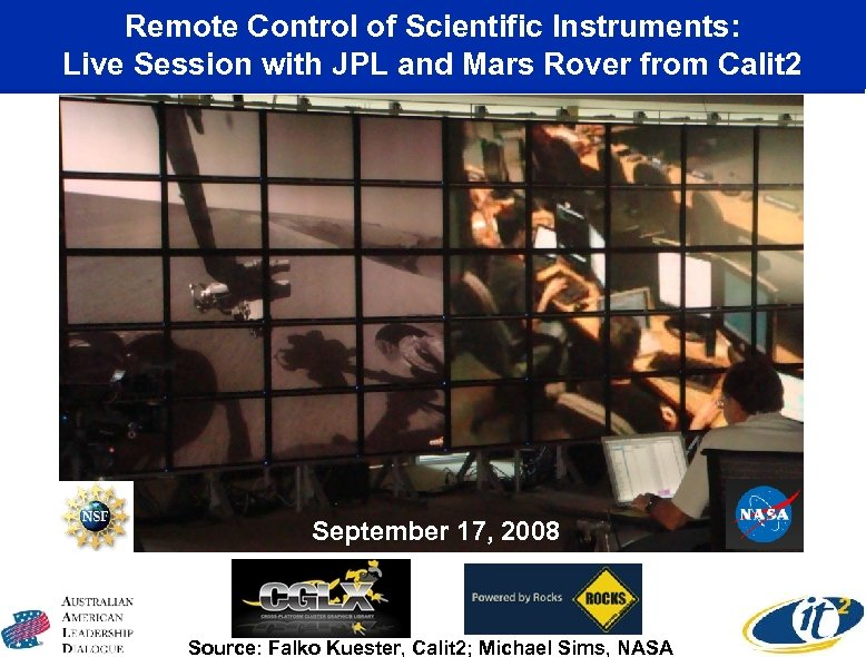 Remote Control of Scientific Instruments: Live Session with JPL and Mars Rover from Calit