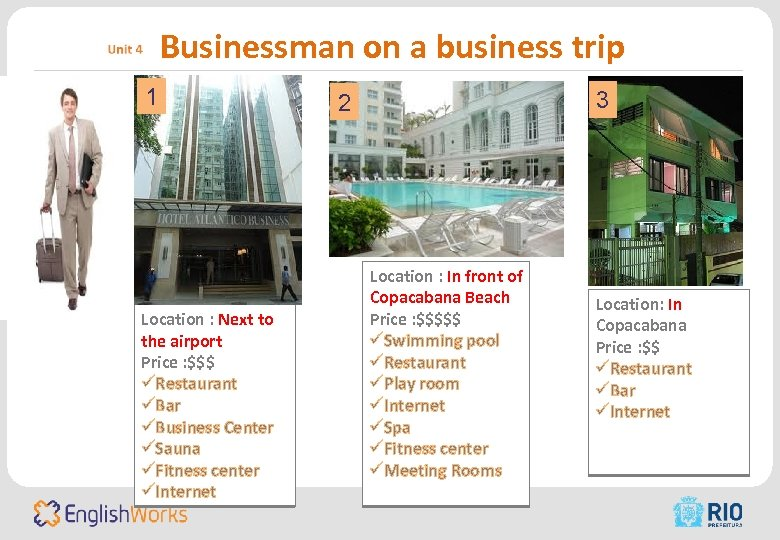 Businessman on a business trip 1 Location : Next to the airport Price :