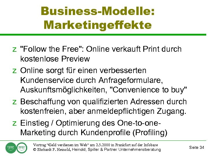 Business-Modelle: Marketingeffekte z