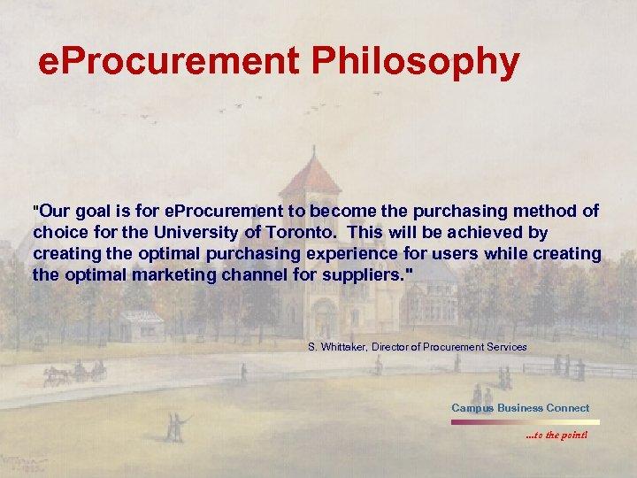 e. Procurement Philosophy