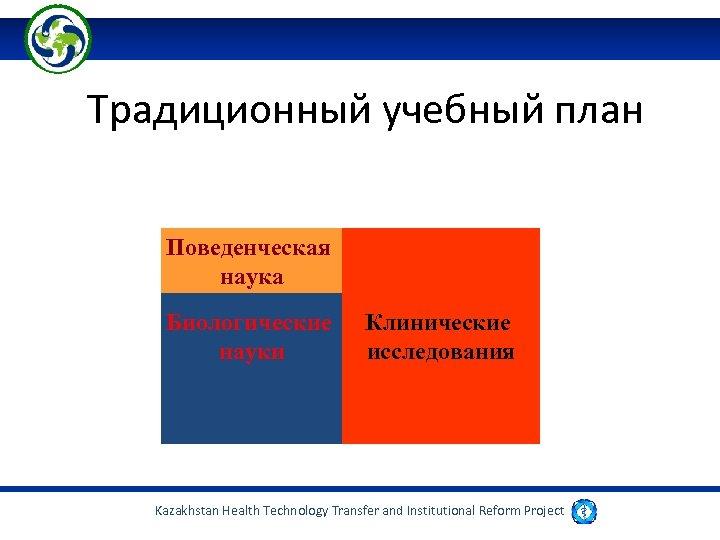 Традиционный учебный план Поведенческая наука Биологические науки Клинические исследования Kazakhstan Health Technology Transfer and