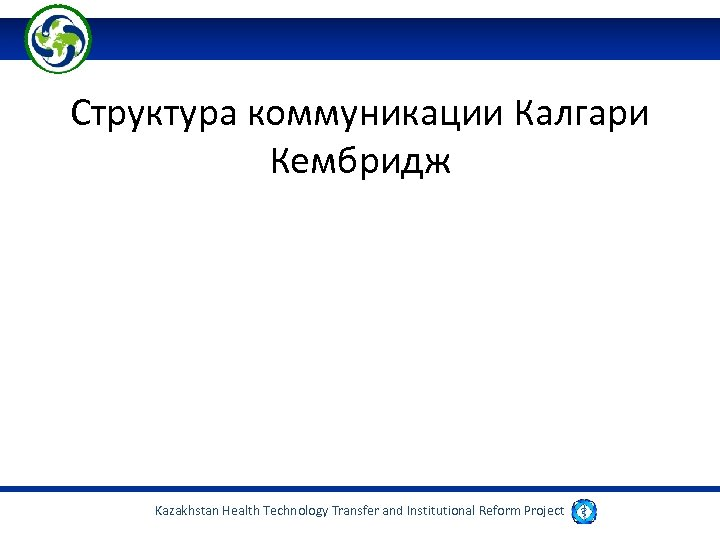 Структура коммуникации Калгари Кембридж Kazakhstan Health Technology Transfer and Institutional Reform Project